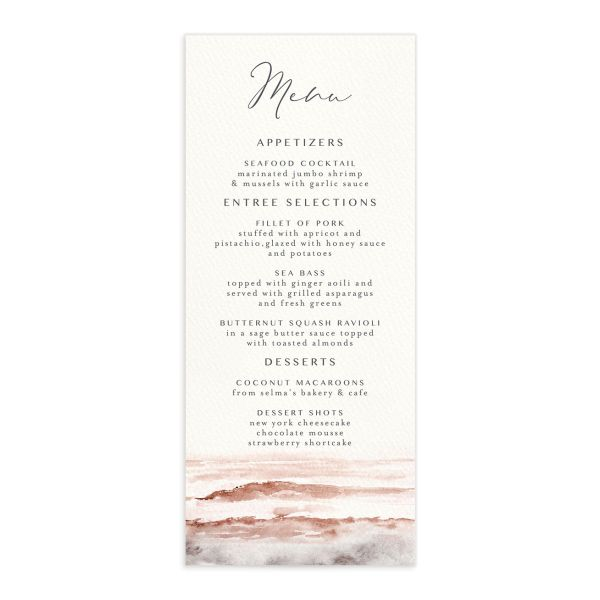 Coastal Love menus front in grey