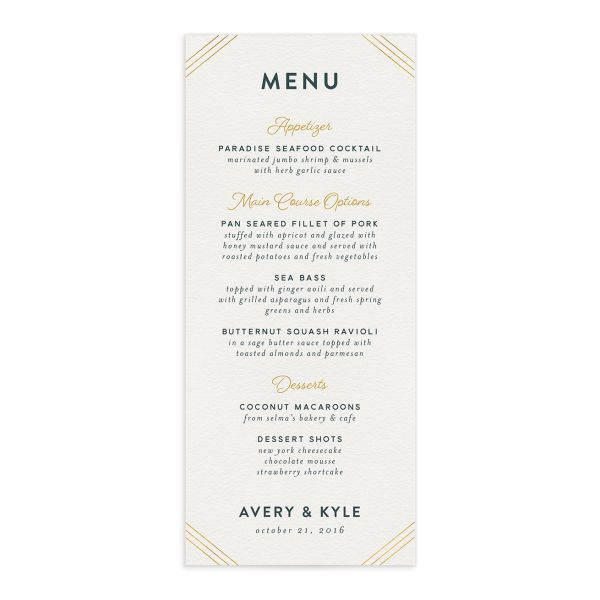Painterly Blooms Menu front