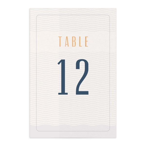 Custom Passport table number front