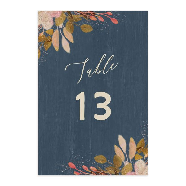 Rustic Leaves Wedding Table Numbers