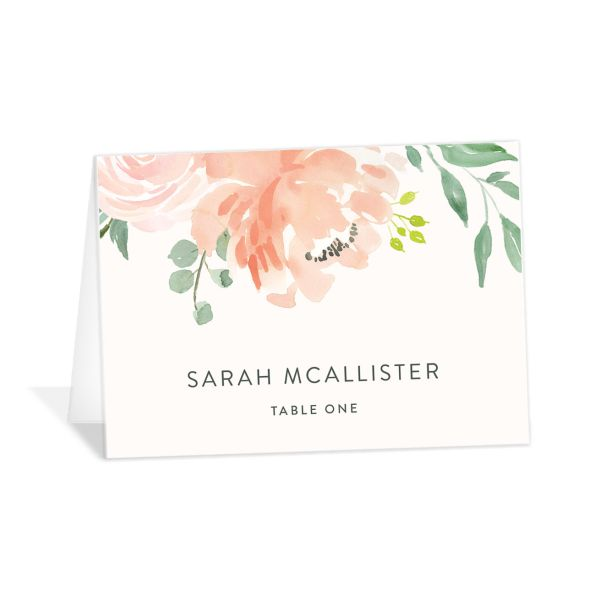 Romantic Floral Wedding Place Cards