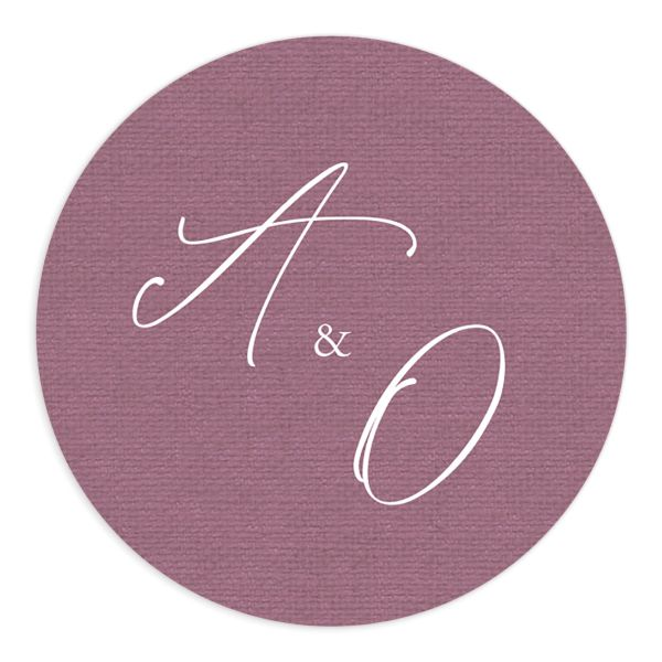 Beloved Floral Wedding Stickers in purple