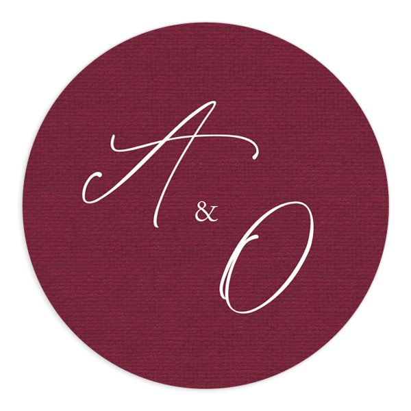 Beloved Floral Wedding Stickers in red