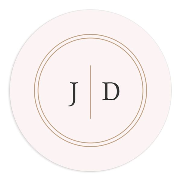 classic greenery wedding stickers in pink