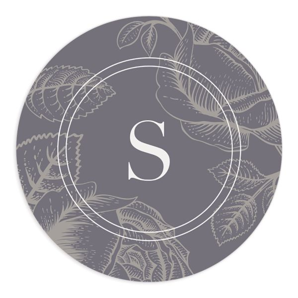 etched botanical wedding stickers