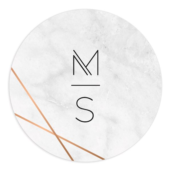 geometric marble wedding stickers