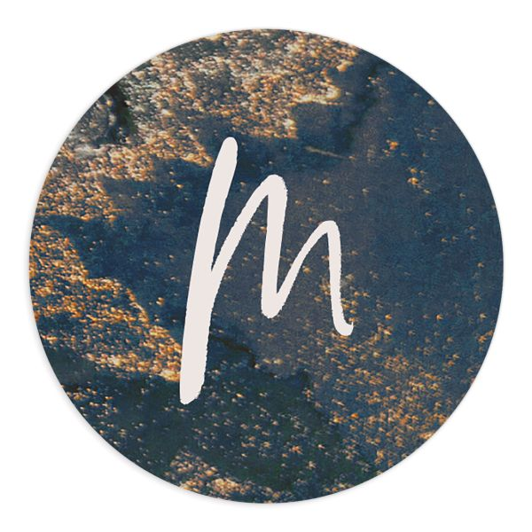 modern luxe wedding stickers in blue and gold