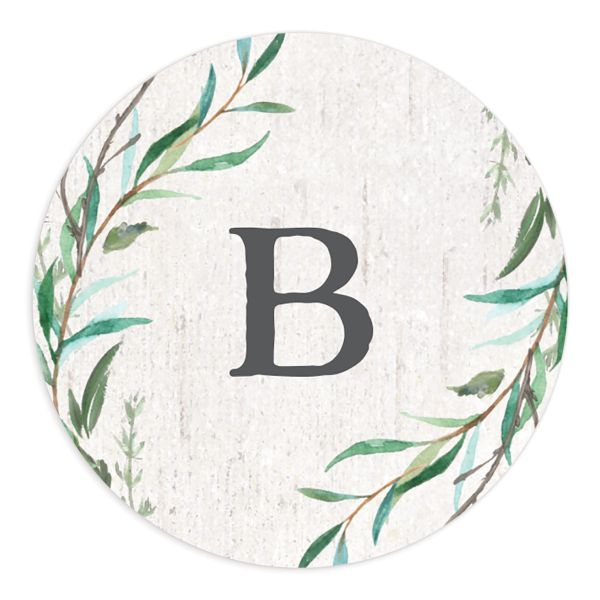 Natural Laurel Wedding Stickers