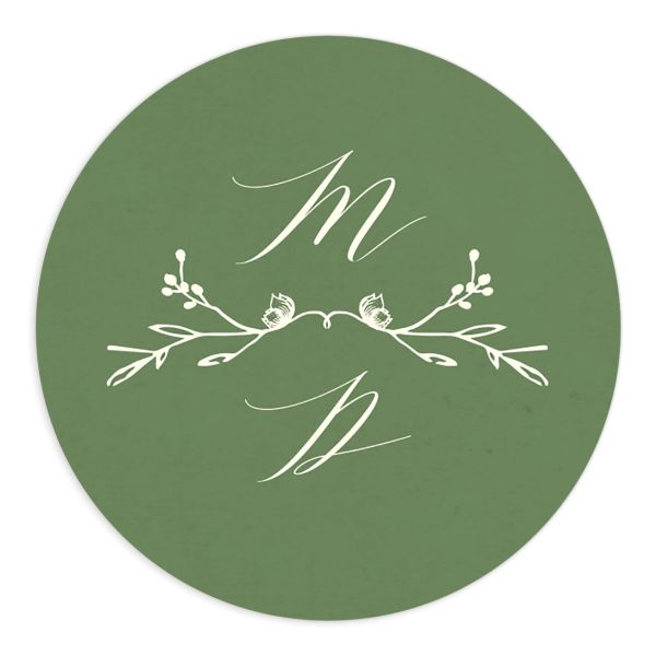 rustic elegance wedding stickers