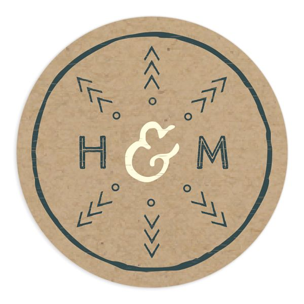 Vintage Mountain wedding sticker