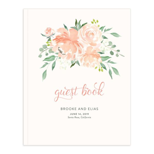 Romantic Floral Wedding Guest Book
