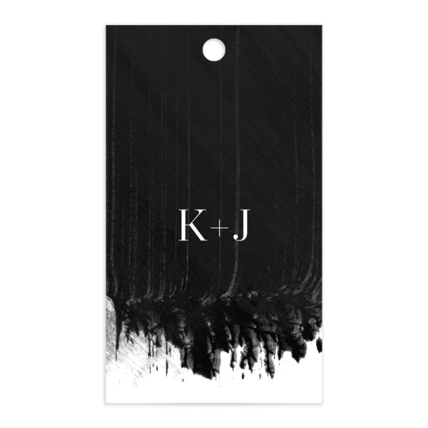 Painted Minimal gift tags front