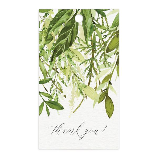 Watercolor Greenery gift tags front