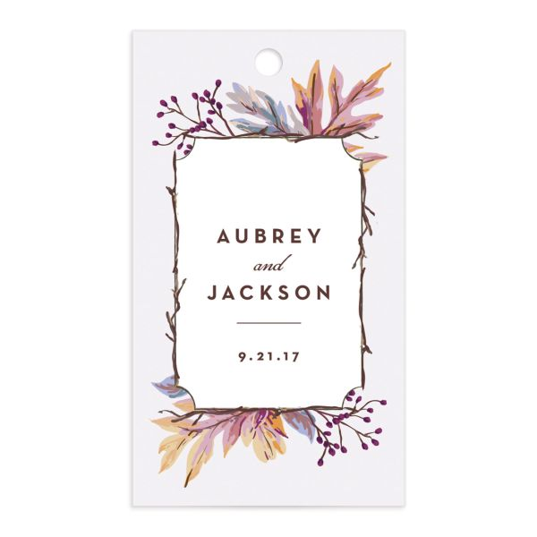 Autumn Leaves gift tag front