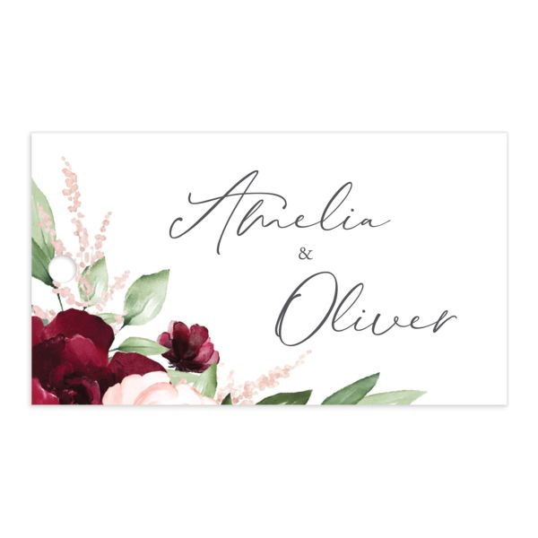 Beloved Floral Wedding Favor Gift Tags