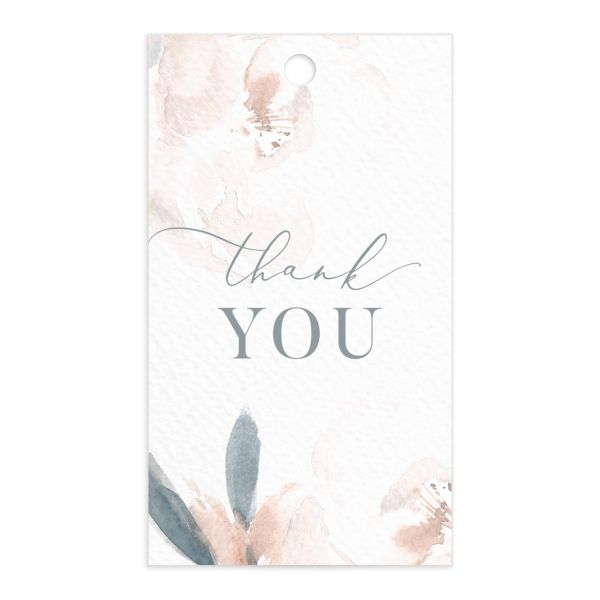 Elegant Garden favor gift tags in blue