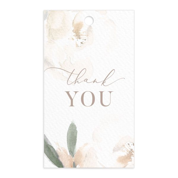 Elegant Garden favor gift tags in green