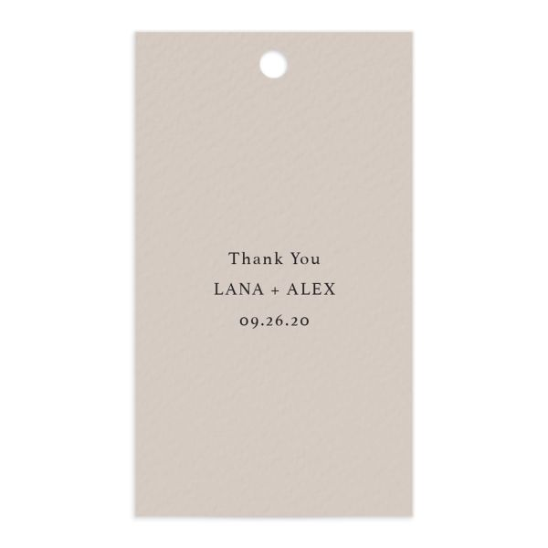 Natural Palette Favor Gift Tags