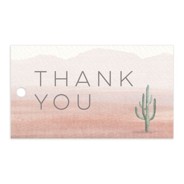painted desert wedding favor tags