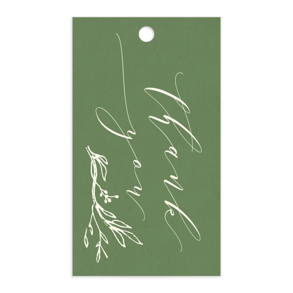 rustic elegance wedding favor gift tags