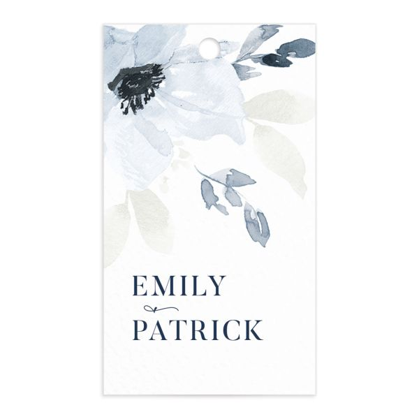 Shades of Blue Wedding Favor Gift Tags