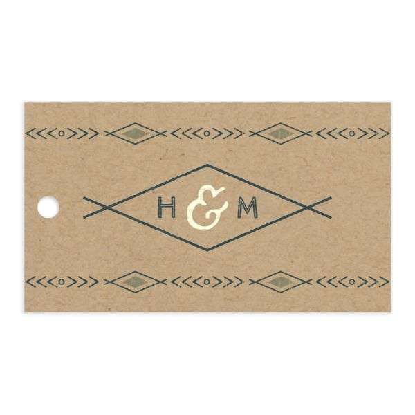 Vintage Mountain favor gift tags back