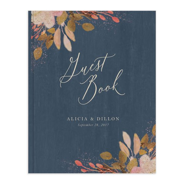 Rustic Leaves Wedding Guest Book
