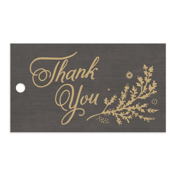 rustic chic wedding favor gift tags in brown