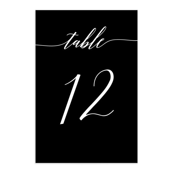 We Do Wedding Table Numbers in Black front
