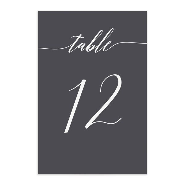 We Do Wedding Table Numbers in Grey front