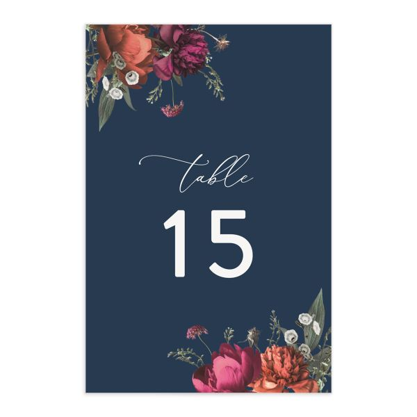 Blooming Botanical Table Numbers