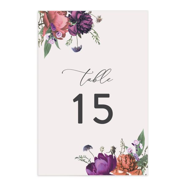 Blooming Botanical table number