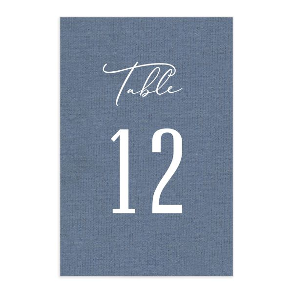 Coastal Love table numbers in blue front