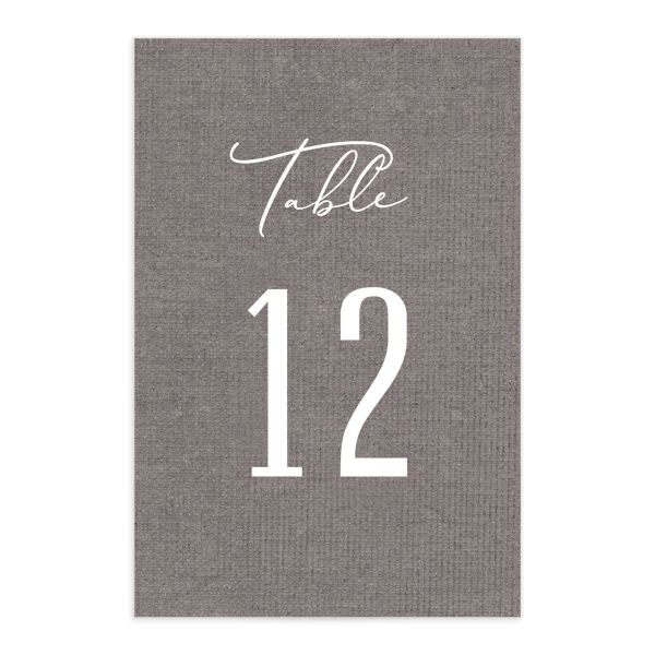 Coastal Love table numbers in grey front
