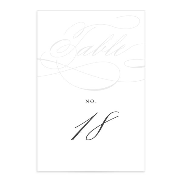 elegantly initialed wedding table numbers