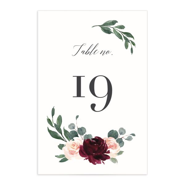 Floral Hoop Table Numbers