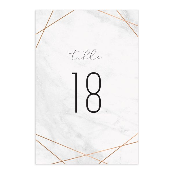 geometric marble wedding table numbers
