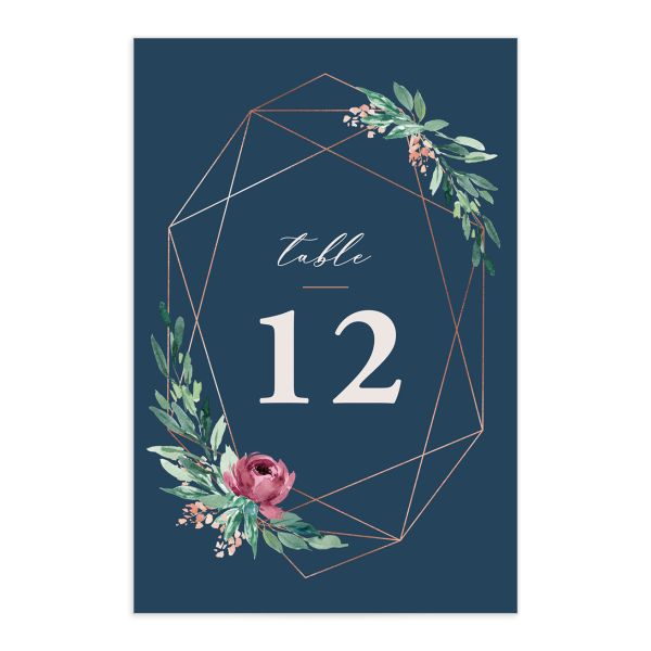 Gilded Botanical table number