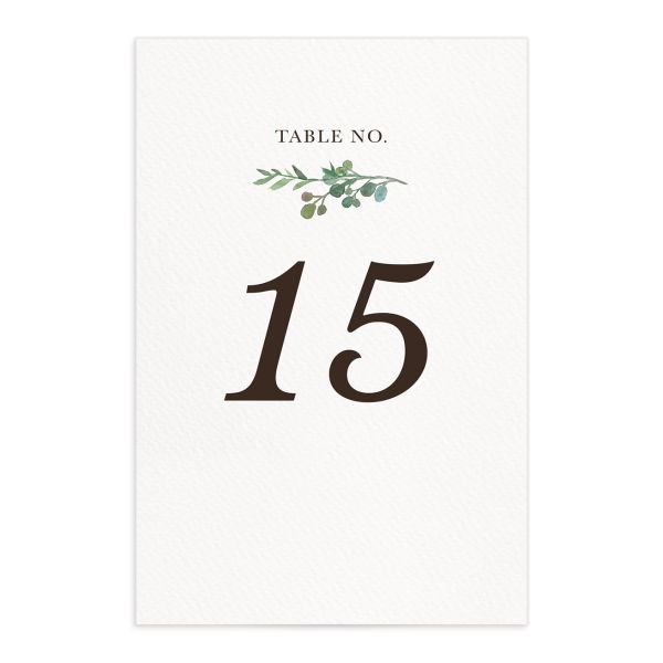 Leafy Hoops wedding table number fronts