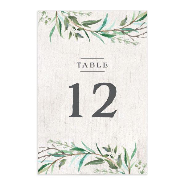 Natural Laurel Table Numbers
