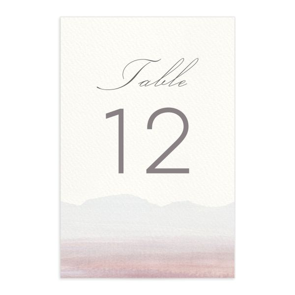 painted desert table numbers in purple