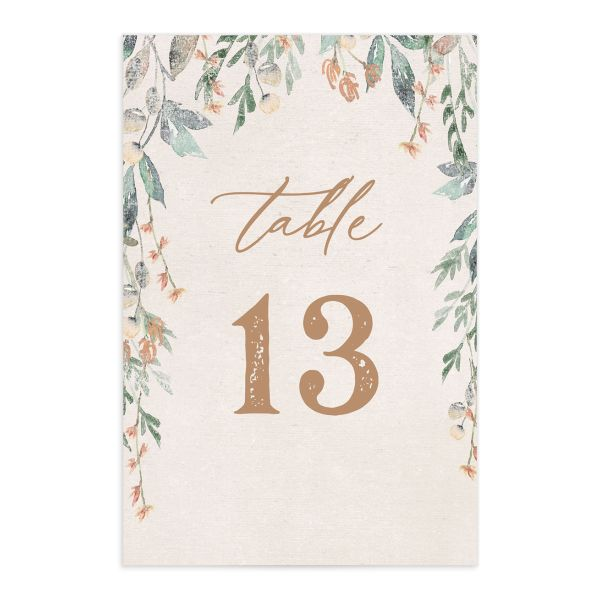 Rustic Vines table number