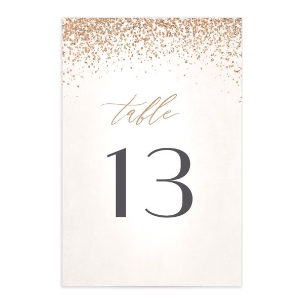 Sparkling Romance table number cream front