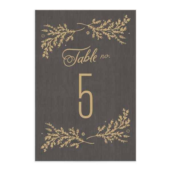 rustic chic table numbers in brown