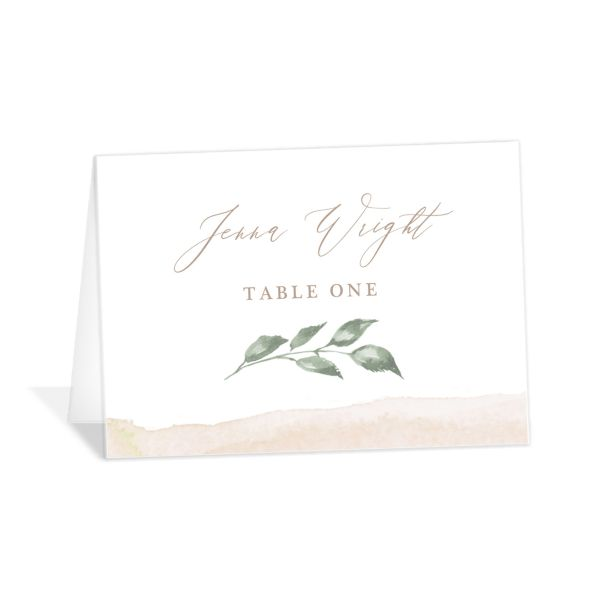 Dusted Calligraphy place card pink