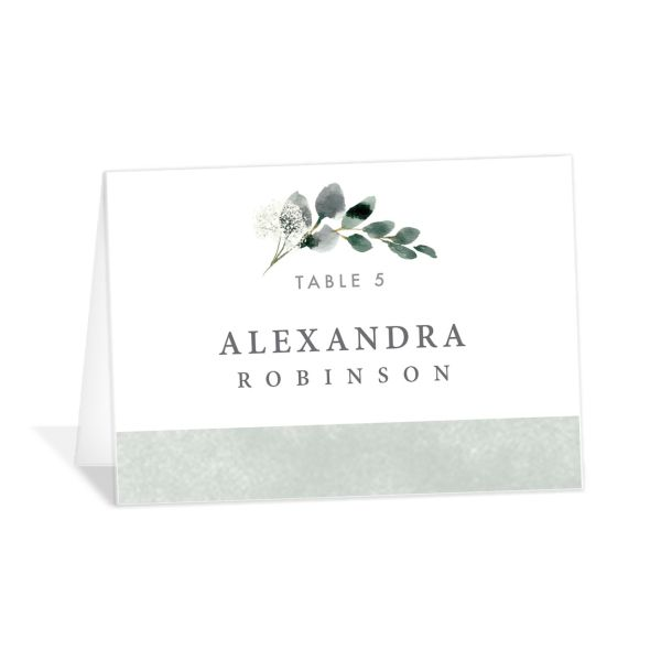 Elegant greenery place cards & escort cards