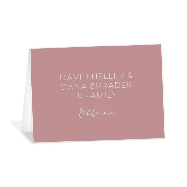 Gold Calligraphy wedding place cards & escort cards in pink
