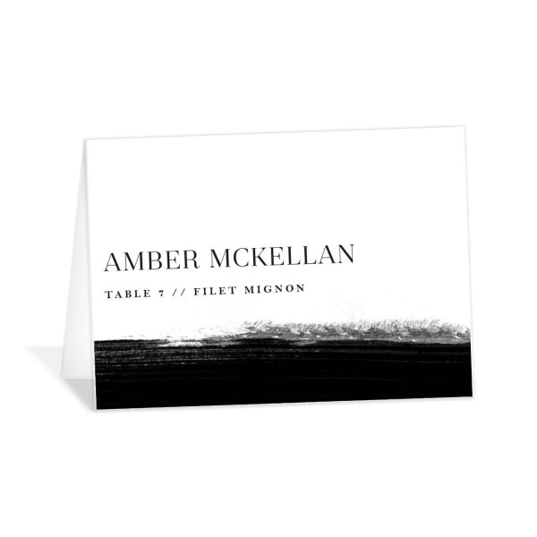 Painted Minimal place cards & escort cards
