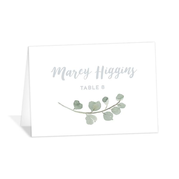 Wintry Floral Wedding Place Cards