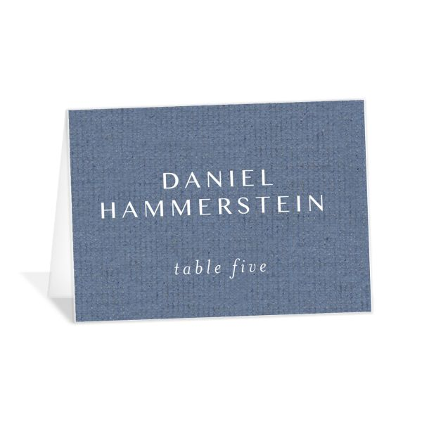 Coastal Love place cards in blue